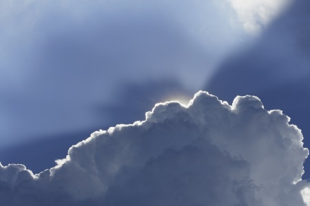 The silver lining of a cloud.