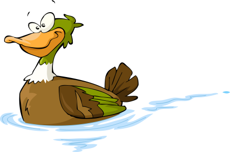 A sitting duck on water.