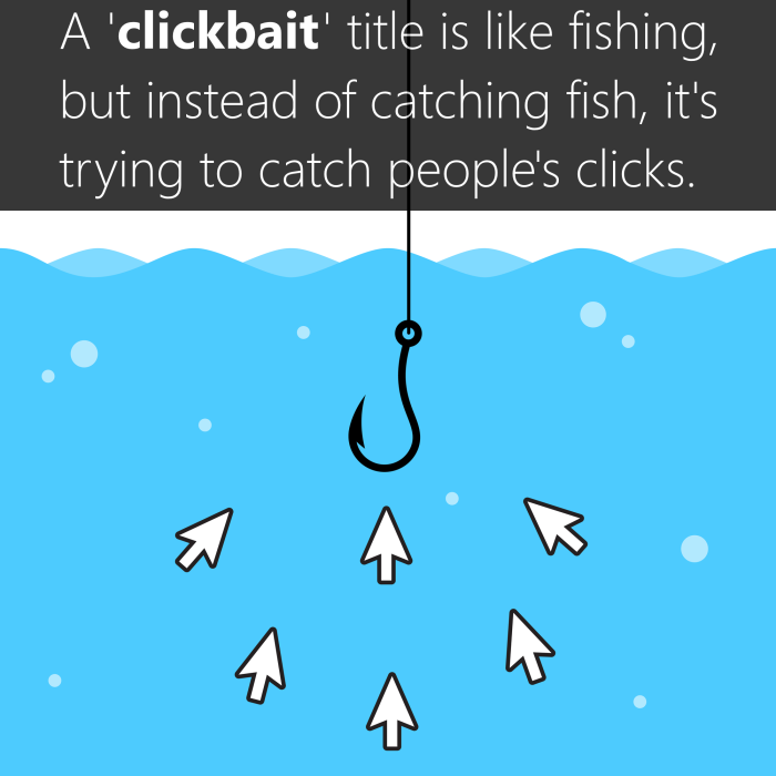 The definition of clickbait and what it is.